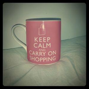 Girly shopping pink mug coffee cup tea kitchen cup